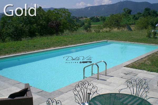 Piscine dolce vita gold enterr e ou semi enterr e for Prix piscine laghetto