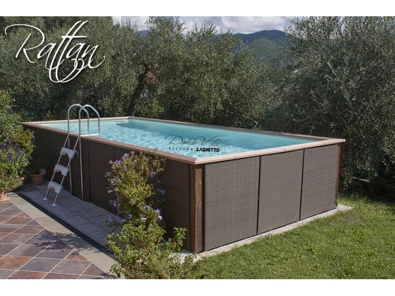 Dolce vita country rattan par piscine laghetto for Piscine hors sol prix usine