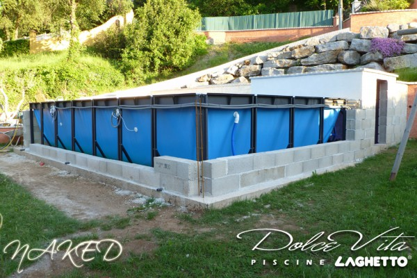 Dolce vita country naked par piscine laghetto livr e sans - Habillage piscine hors sol intex ...