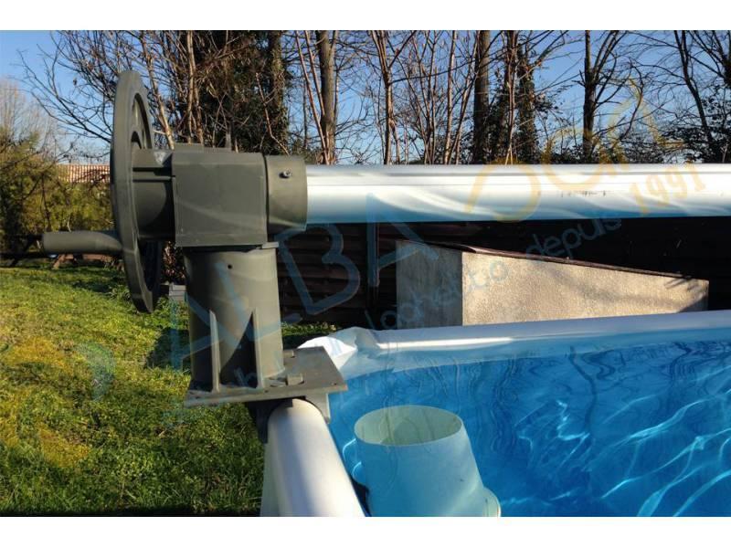 Enrouleur hors sol sp cialement adapt aux piscines laghetto for Enrouleur bache a bulles pour piscines hors sol