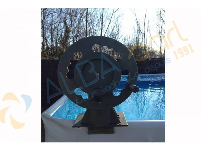 Enrouleur hors sol sp cialement adapt aux piscines laghetto for Bache a bulle piscine hors sol leclerc