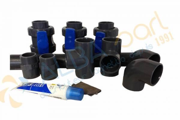 Kit by pass pour installation pac ou r chauffeur laghetto for Pompe a chaleur ou rechauffeur pour piscine