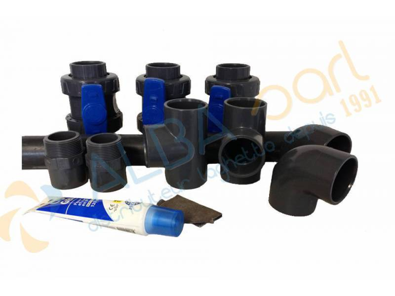 Kit by pass pour installation pac ou r chauffeur laghetto for Pompe rechauffeur piscine