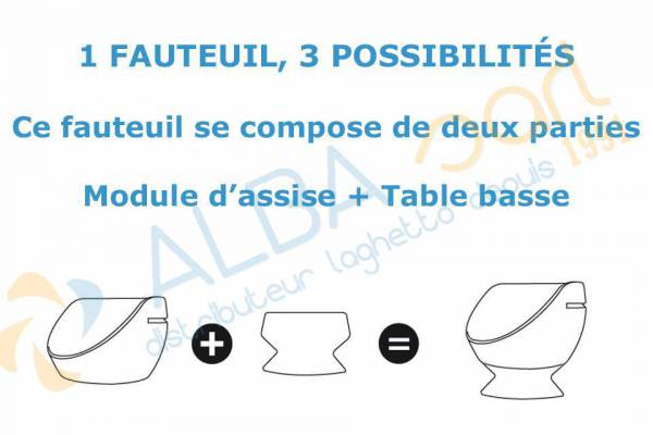 Assise + table basse BOONS