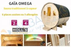 Sauna extérieur Gaïa OMEGA (6 places)