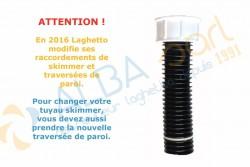 Tuyau noir sous skimmer pour filtration BOA Laghetto