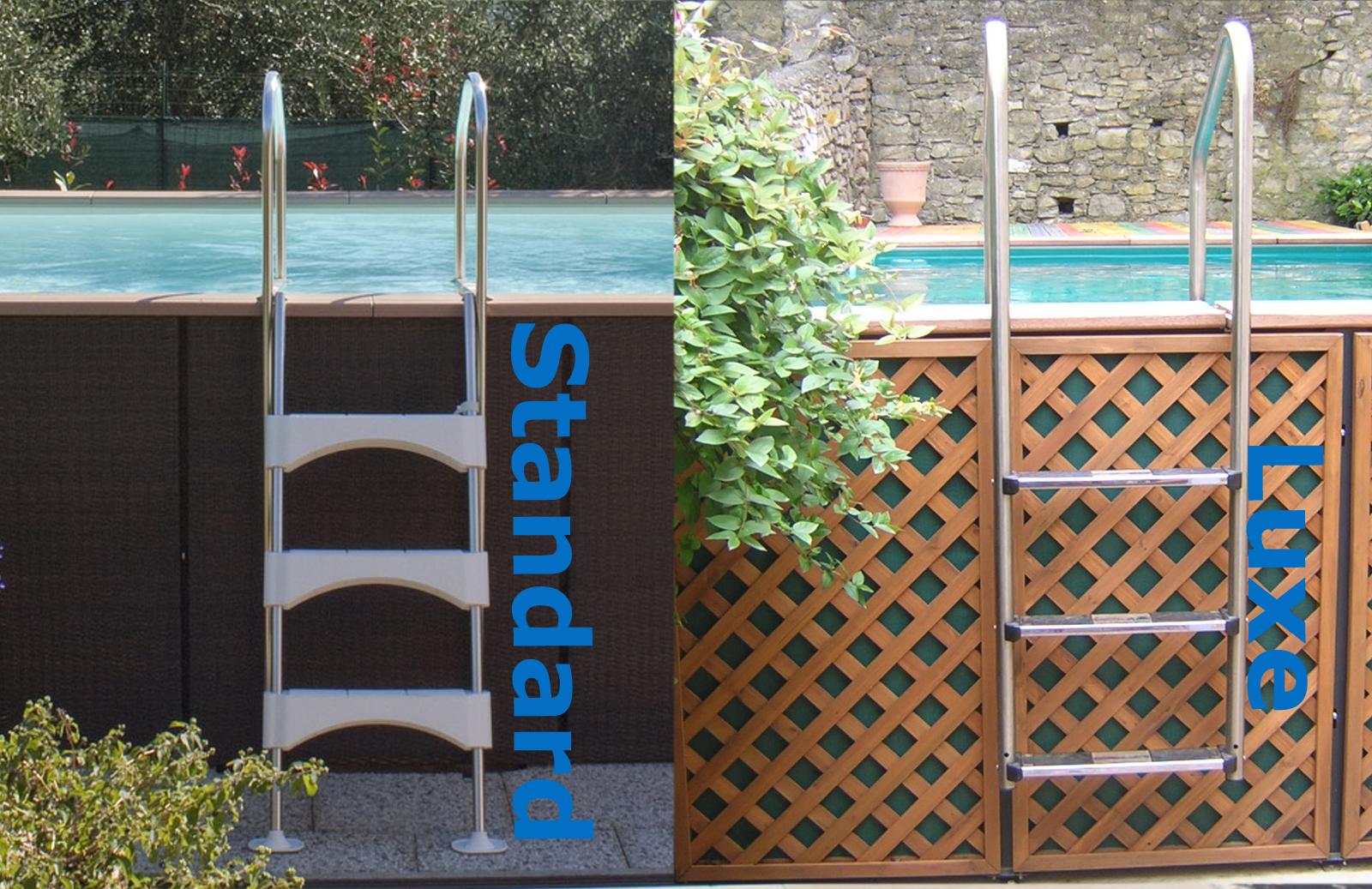 piscine laghetto dolcevita woody hors sol et panneaux d'habillage bois